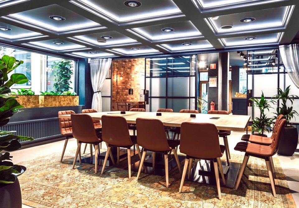 Konferensrum med växter